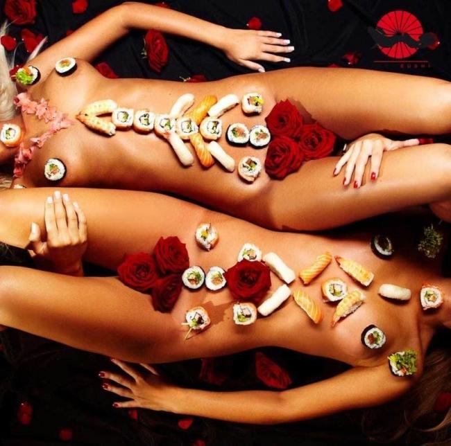 Фото прикол  про суши и эротику