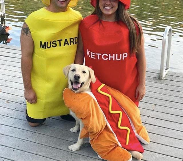Фото прикол  про одежду и кетчуп