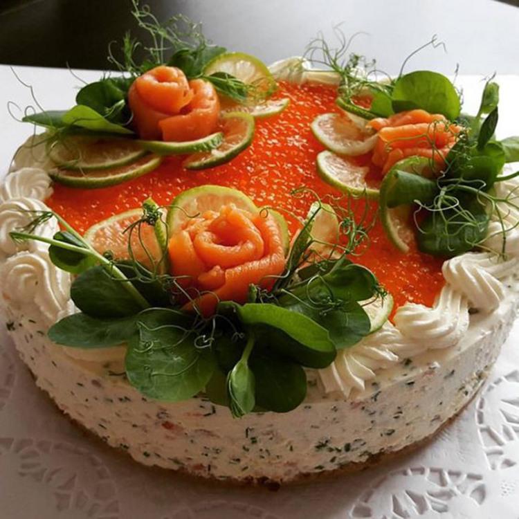 Фото прикол  про торт и икру