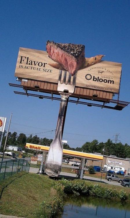 Фото прикол  про мясо, вилку реклама