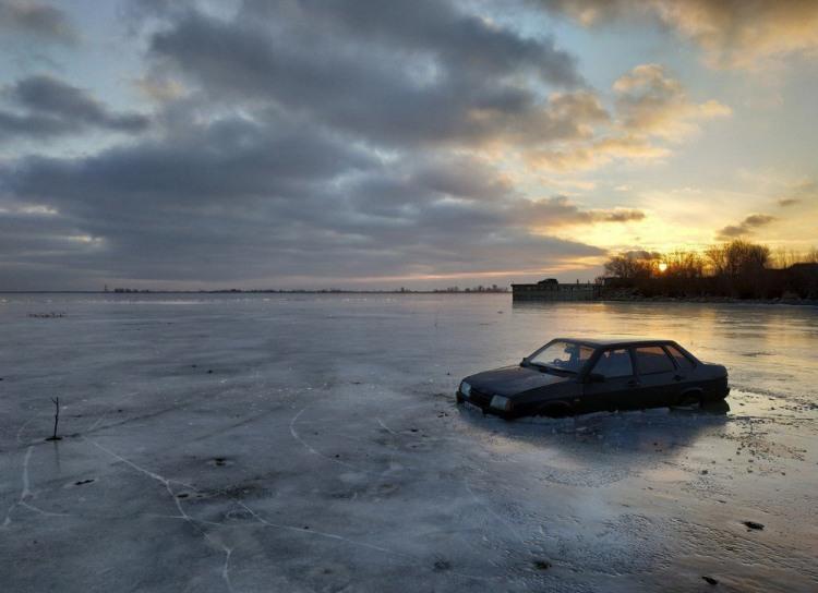 Фото прикол  про ладу и лед