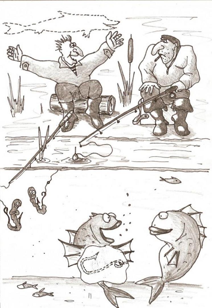 Прикольные картинки на тему рыбалки