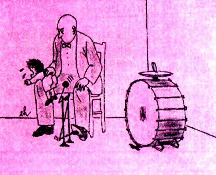 Картинка  про барабан, музыкантов, детей черный