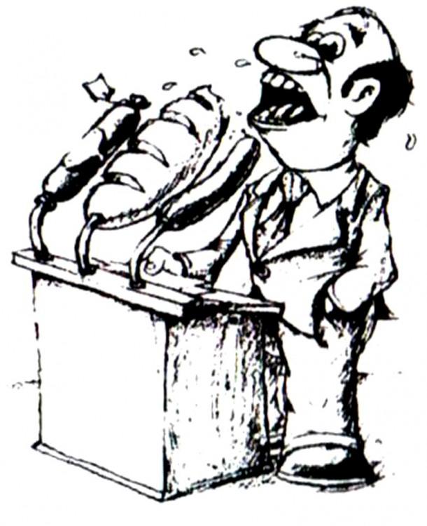 Картинка  про ораторов и хлеб