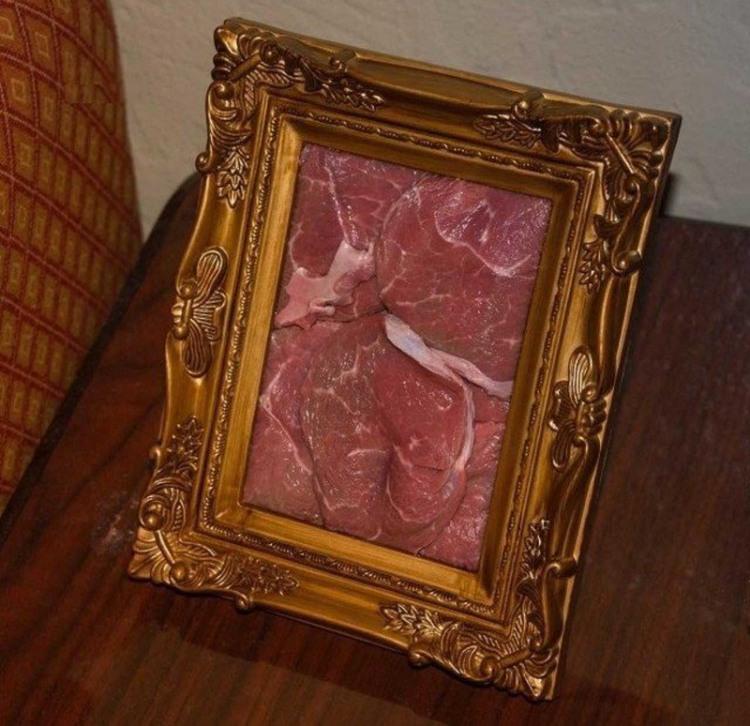 Фото прикол  про мясо и картины