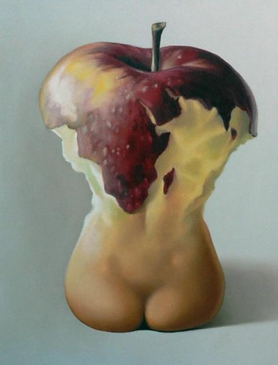 Картинка  про яблоки, ягодицы пошлый