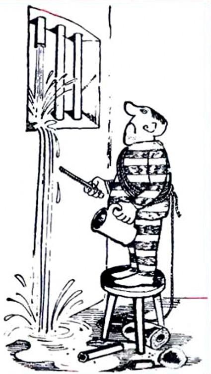 Картинка  про тюрьму, побег и арестантов