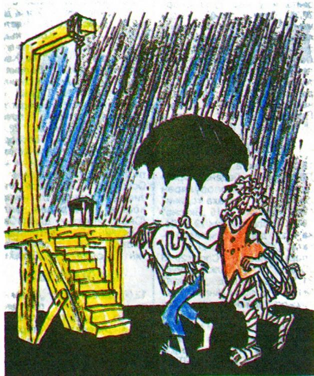 Картинка  про казнь, дождь, зонтик, циничный черный