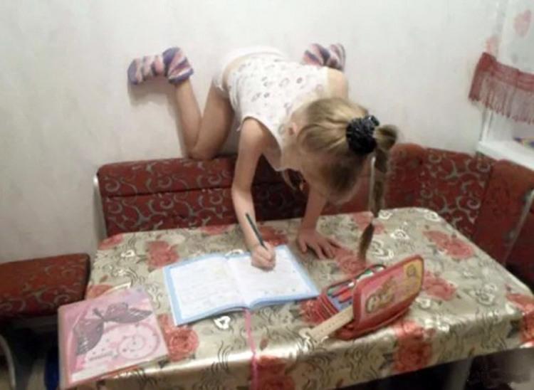 Фото прикол  про детей и домашнюю работу