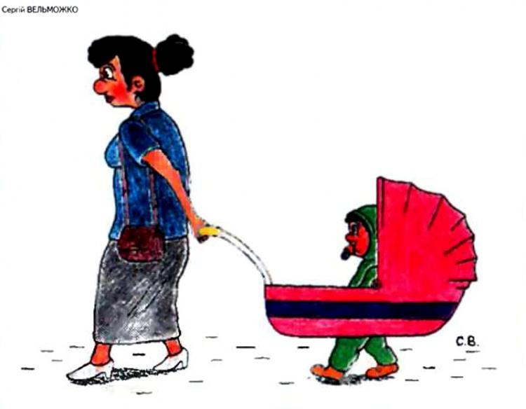 Картинка  про коляску и детей