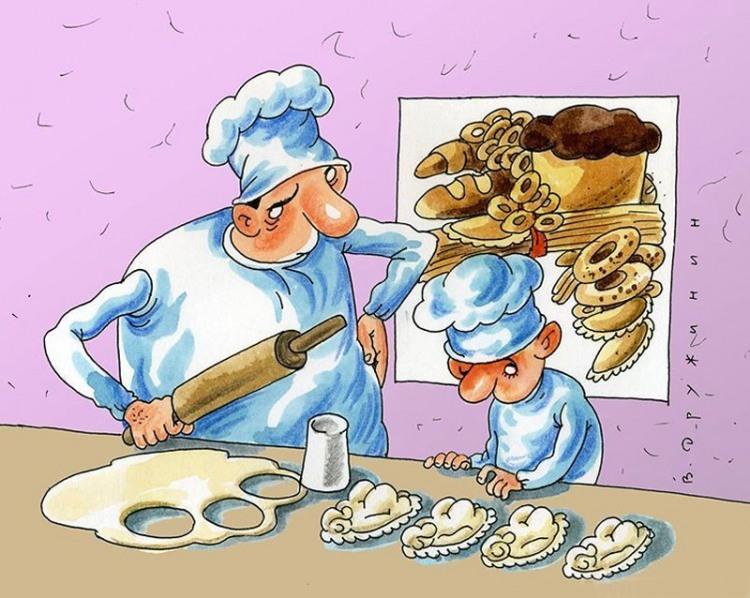 Картинка  про поваров и пельмени