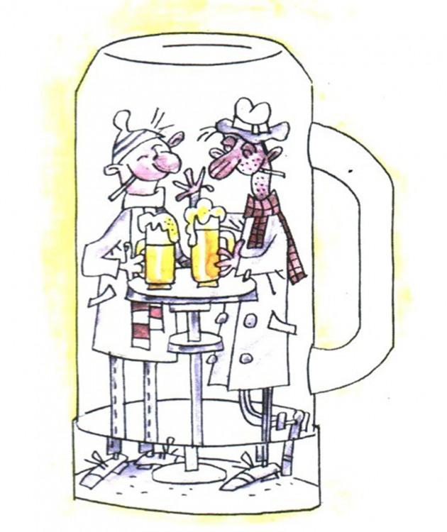 Картинка  про алкоголиков и пьяных