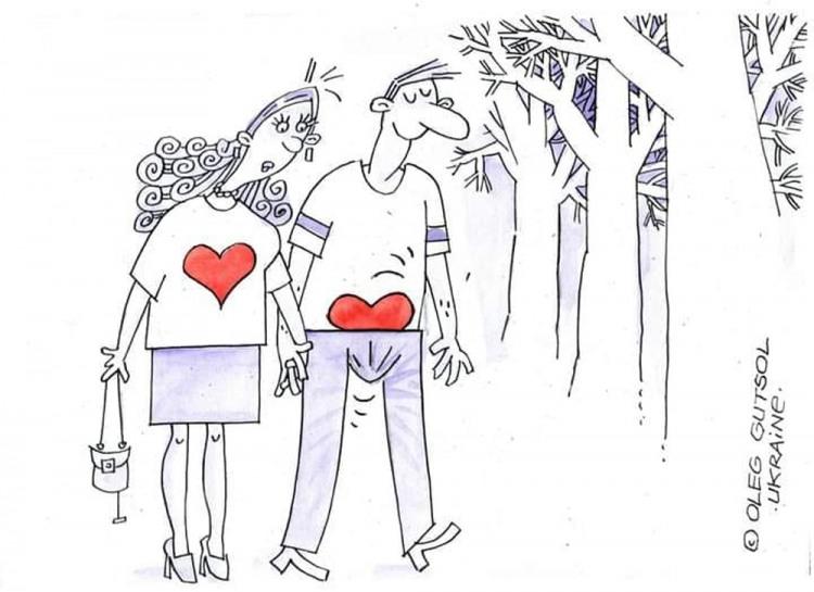 Картинка  про он, она, любовь пошлый